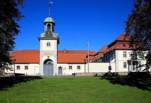 Die Justizvollzugsanstalt in Celle ist ein Hochsicherheitsgefängnis. Celle, Niedersachsen, Deutschland, Europa  -- The correctional facility in Celle is a maximum security prison. Celle, Lower Saxony,
