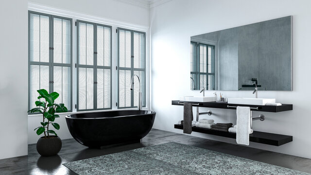 Modern bathroom at home