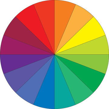 16 color color wheel on white back ground