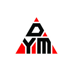 Obraz DYM triangle letter logo design with triangle shape. DYM triangle logo design monogram. DYM triangle vector logo template with red color. DYM triangular logo Simple, Elegant, and Luxurious Logo. DYM  - fototapety do salonu