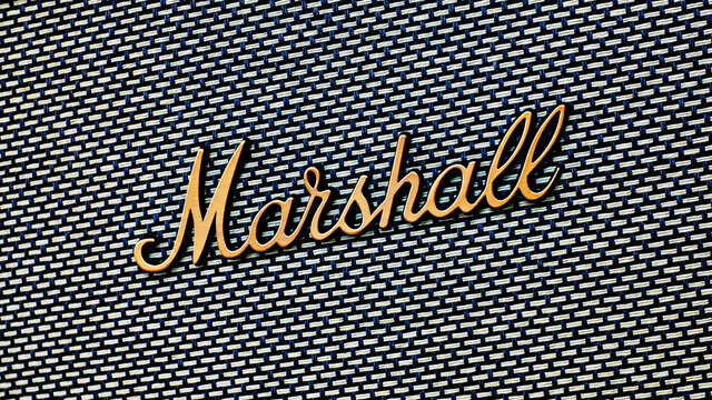 Editorial photo on Marshall theme.  Illustrative photo for news about Marshall - a British professional audio equipment company