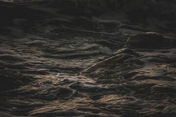 Obraz Closeup shot of ocean waves for wallpaper and background - fototapety do salonu