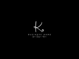 Fototapeta Letter KO Logo, signature ko logo icon vector image design for business obraz