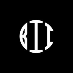 BII letter logo design. BII letter in circle shape. BII Creative three letter logo. Logo with three letters. BII circle logo. BII letter vector design logo