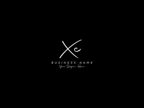 Letter XC Logo, handwritten signature xc logo icon vector for business or your brand