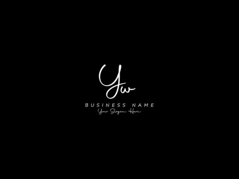Letter YW Logo, handwritten signature yw logo icon vector for business or your brand