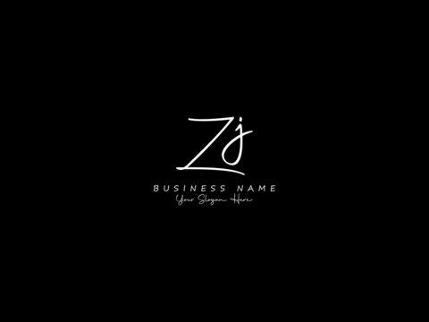Letter ZJ Logo, handwritten signature zj logo icon vector for business or your brand