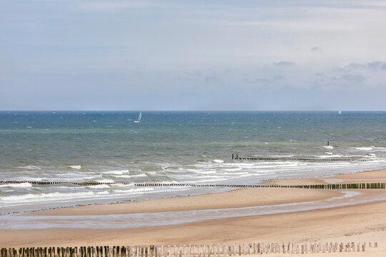 yachts sailing in sunshine on North sea