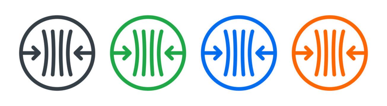 Minimize, compress, flexible, squeeze icon symbol.
