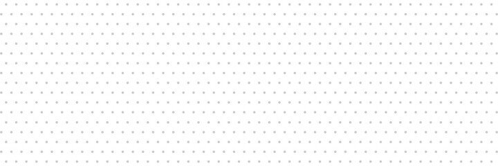 Fototapeta Dots long background. Geometric circle texture on white banner. Repeat grey ornament. Polka dot design element. Cloth print. Perforated shape. Grid business cover. Optical effect. Vector illustration obraz