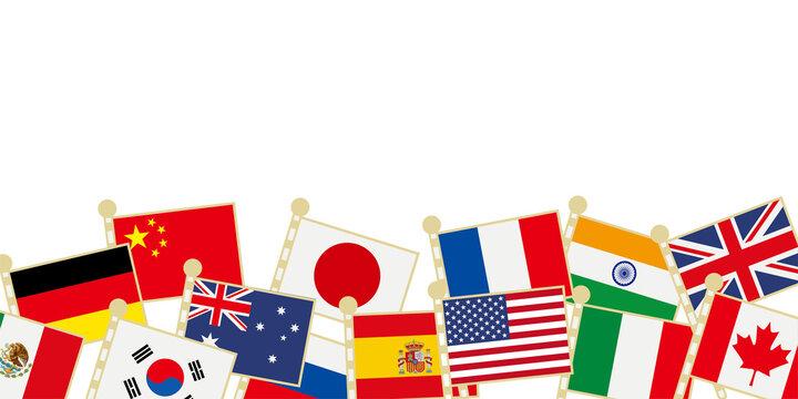 世界の国旗 イラスト