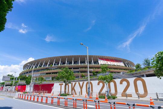 東京 国立競技場 オリンピックスタジアム 2021年7月16日撮影