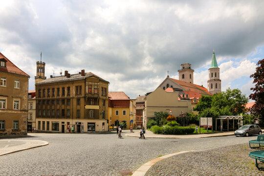 Blick auf die Altstadt von Zittau vom Klosterplatz aus