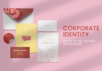 Obraz Editable Corporate IDentity Mockup Set - fototapety do salonu