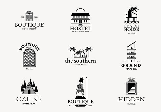 Hotel Logo Business Corporate IDentity Set
