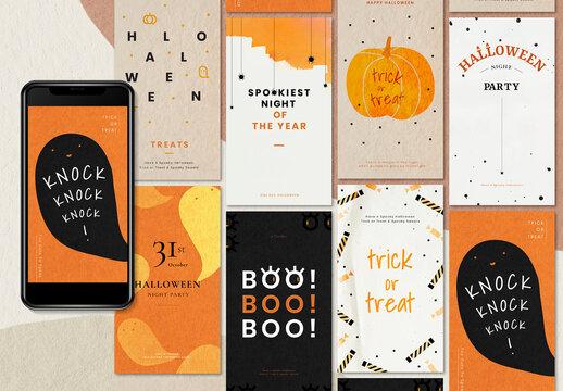 Halloween Editable Template for Social Media