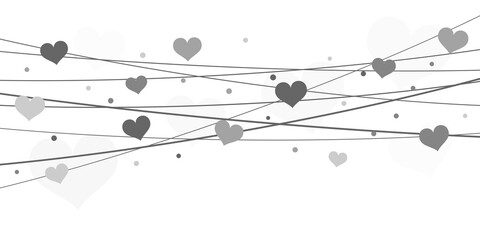 Obraz hearts on strings background for valentine's day - fototapety do salonu
