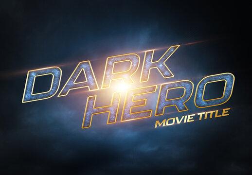 Cinematic Text Effect Mockup Superhero Movie Style