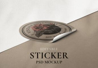 Obraz Editable Vintage Sticker Mockup - fototapety do salonu