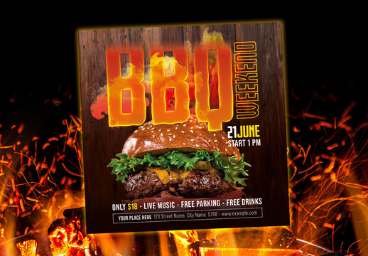 Bbq Weekend Flyer