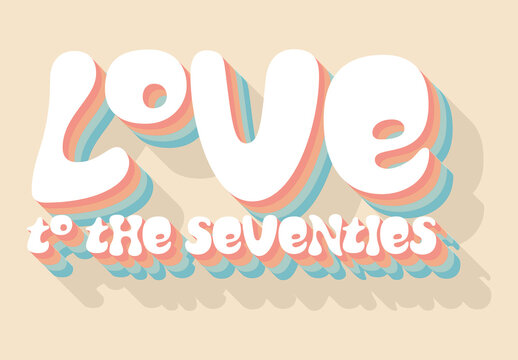 Colorful Retro Text Effect Style Mockup