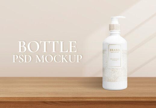 Body Lotion Bottle Mockup