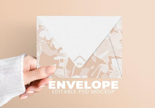 Editable Envelope Mockup Design