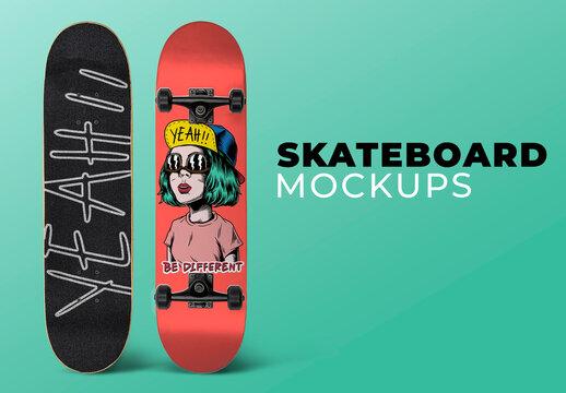 Editable Skateboard Mockup