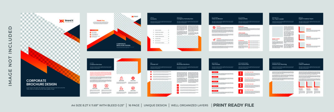 Business Company Profile brochure template bundle design with minimalist and clean concept use for business proposal Premium Vector
