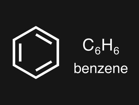 Illustration of benzene molecular structure.