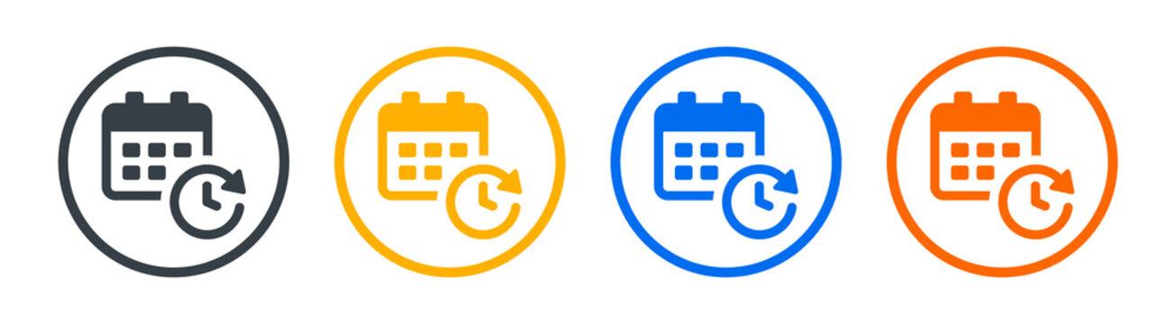 Calendar, schedule, time management vector icon. Planner concept