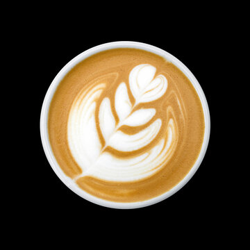hot latte art texture. hot coffee background