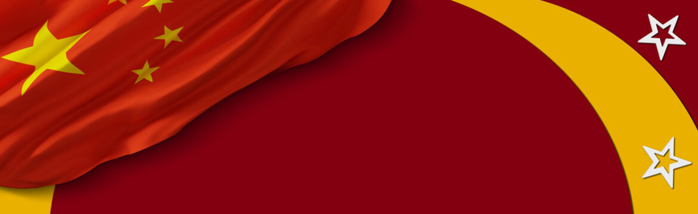 flag of china background. banner templates design. 3D illustration