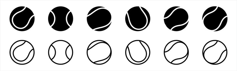 Obraz tennis ball icon in trendy flat style isolated on background. tennis ball icon page symbol for your web site design tennis ball icon logo, app, UI. tennis ball icon Vector illustration. - fototapety do salonu