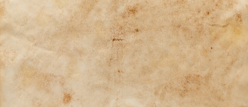 texture of old grunge brown paper surface - vintage background