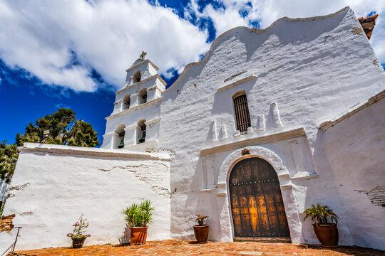 White Adobe Mission San Diego de Alcala California