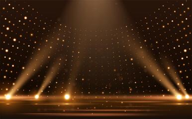 Obraz gold lights rays scene background - fototapety do salonu