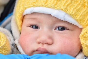 Fototapeta baby in a cap obraz