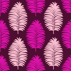 Set of tropical patterns with minimal palm leaves