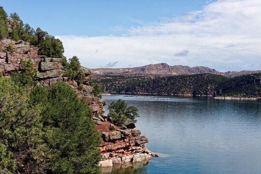 Mountain lake before drought.