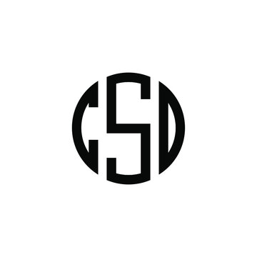 CSO letter logo design. CSO letter in circle shape. CSO Creative three letter logo. Logo with three letters. CSO circle logo. CSO letter vector design logo