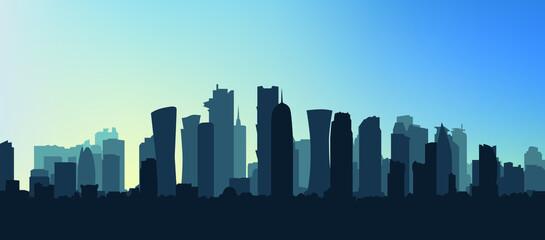Fototapeta Vector illustration of city skyline eps 10 obraz