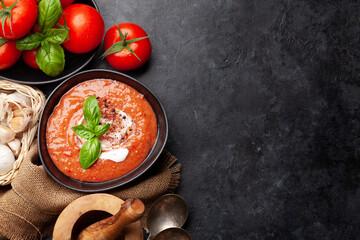Fototapeta Homemade cooking cold gazpacho soup obraz