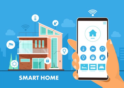Internet of things smart home technology System intelligent for control house system with centralized.