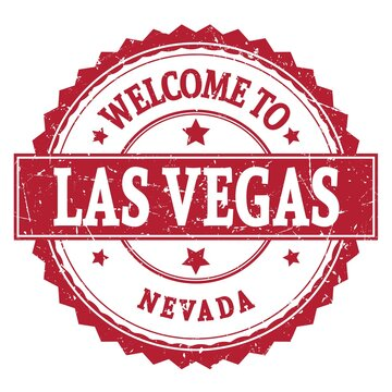 WELCOME TO LAS VEGAS - NEVADA, words written on red stamp
