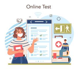 Fototapeta Healthy lifestyle class online service or platform. Idea of life safety obraz