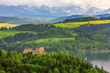 Pieniny-zamek Czorsztyn, jezioro Czorsztyńskie