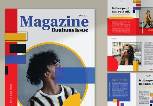 Bauhaus Style Magazine Layout