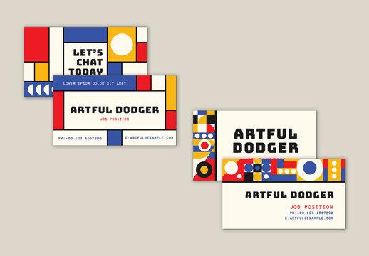 Bauhaus Business Cards Set
