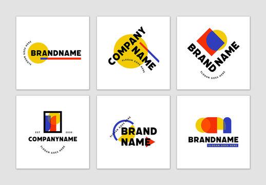 Bold Geometric Logos Set
